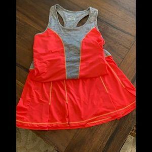 Fila Orange Tennis outfit size LG
